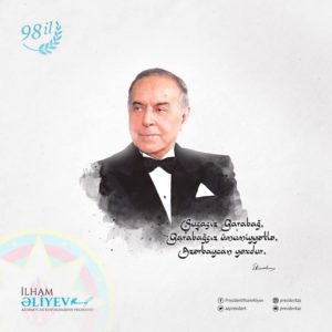 President Ilham Aliyev made Facebook post on 98th anniversary of national leader